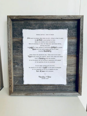 11X14 Rustic Planked Barn Wood Frame - Main - Calligraphy & Typewriter