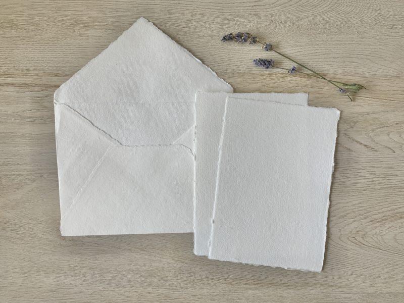 Wedding Invitations and Cotton Envelopes