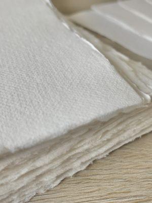 8x10-inch Handmade Cotton Paper Deckle Edges