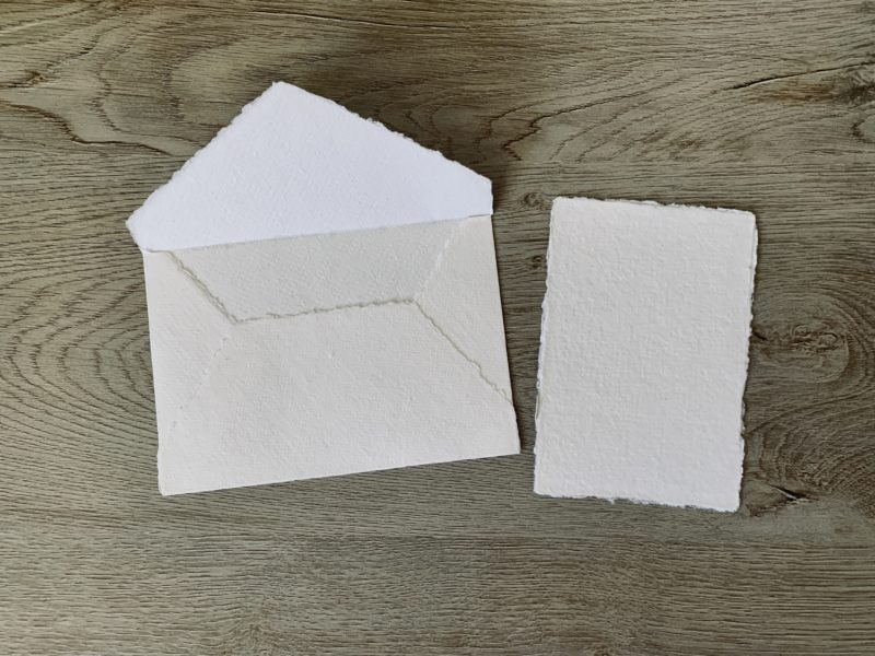 3x5 cotton paper and 4 bar envelope