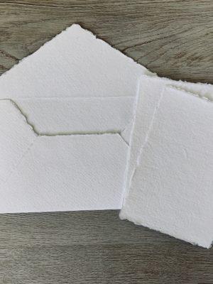 4 bar envelopes and 3x5 cotton paper