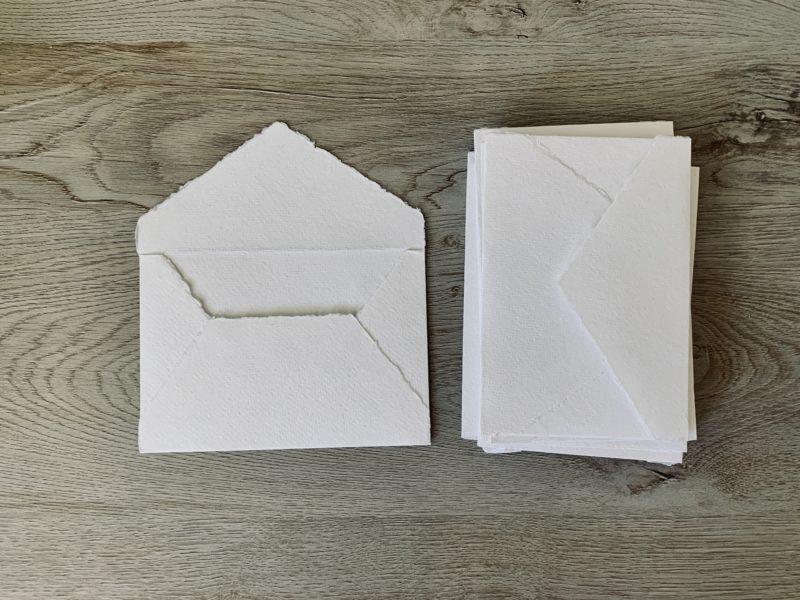 4 bar handmade envelopes