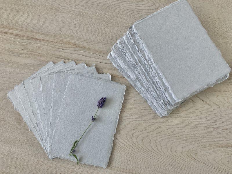 4x6-inch grey handmade cotton paper
