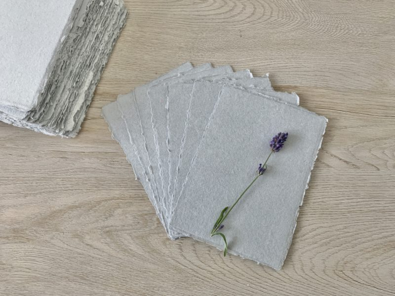 wedding invitation paper - handmade cotton paper