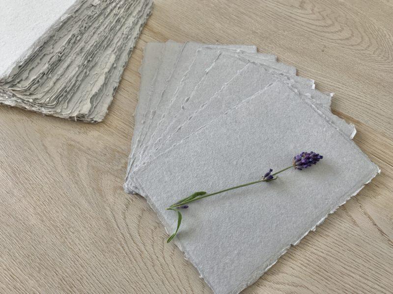 grey handmade cotton paper for wedding invitations
