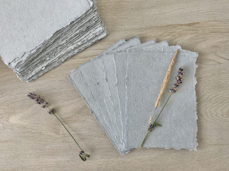 5x7-inch Handmade Grey Cotton Paper
