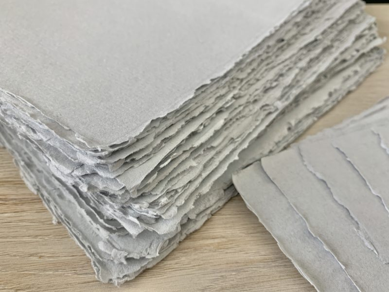 8x10-inch Grey Handmade Cotton Paper