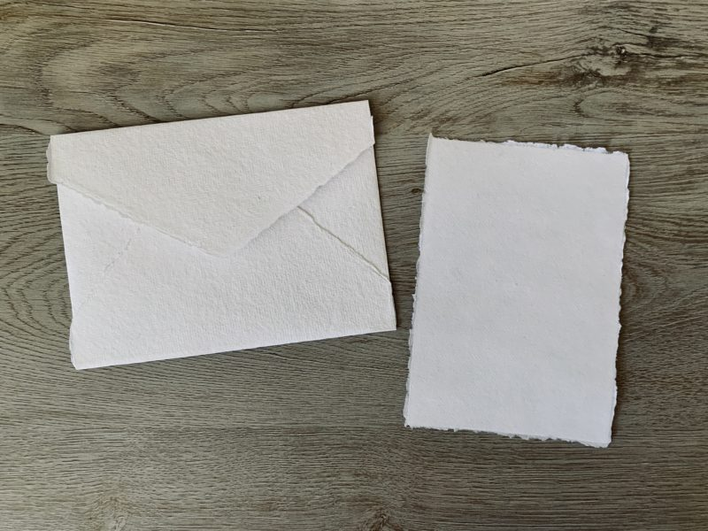 handmade cotton paper and envelopes 4x6 and a6