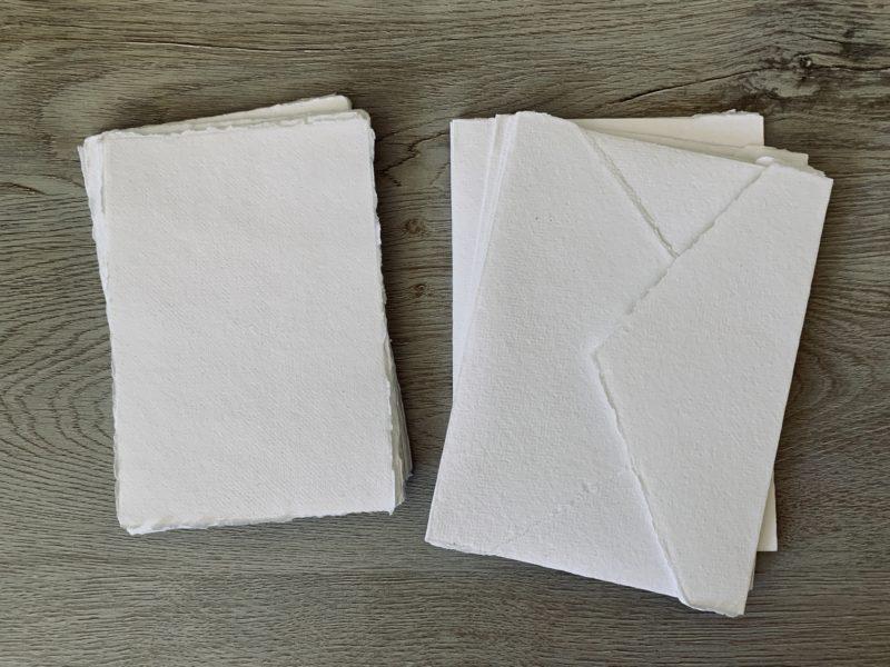 4x6 cotton paper and a6 envelopes
