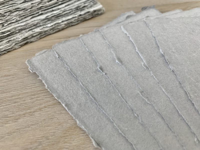 naturally deckled edges of handmade cotton paper