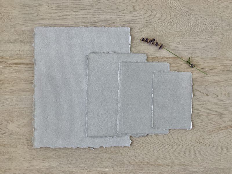 8x10, 5x7, 4x6, and 3x5-inch cotton paper with deckled edges