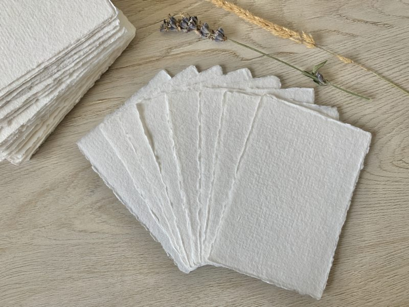 3x5 Handmade Cotton Paper
