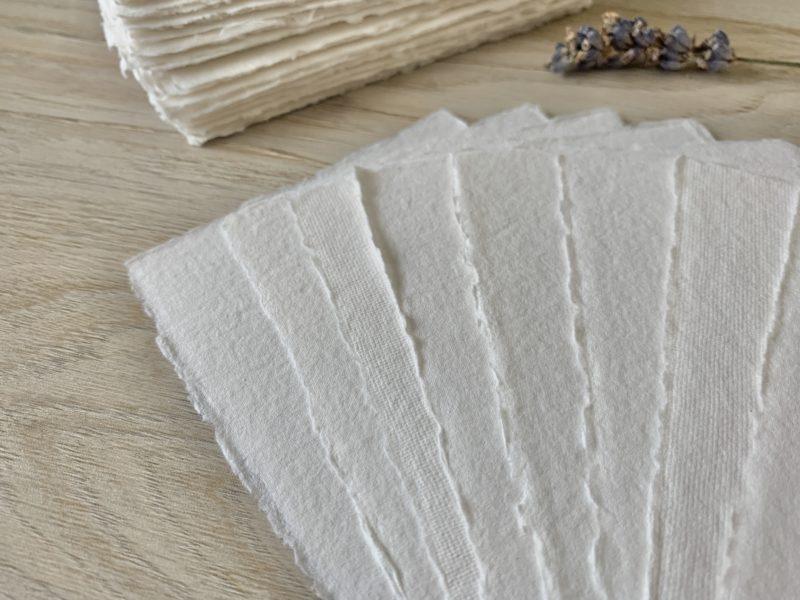 Deckle Edge White Cotton Paper