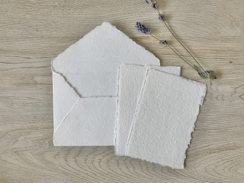 3x5-inch Paper and 4bar envelope