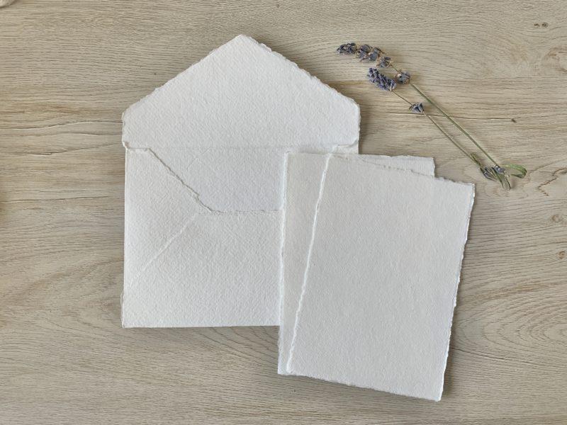 4x6-inch paper & A6 cotton envelope